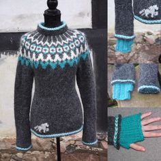 Vidir gray / Turkish ice - Brogaard Isheste and Knit Vidir gray / Turkish ice - Brogaard Isheste and Knit. Knitting Kits, Fair Isle Knitting, Free Knitting, Knitting Patterns, Icelandic Sweaters, Textiles, Knitwear, Knit Crochet, Sweaters For Women