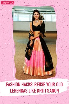 If you're a fan of lehengas but have an event where going OTT is not the option, all you can do is pick the lehenga skirt and pair it with a solid-coloured blouse. This will tone down the attention-seeking capacity of the whole lehenga while balancing out the look pretty well. Indian Fashion Dresses, Indian Bridal Outfits, Dress Indian Style, Indian Designer Outfits, Bridal Dresses, Lehenga Saree Design, Lehenga Skirt, Stylish Dresses For Girls, Stylish Dress Designs