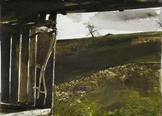 Andrew Wyeth. To me, there is nothing more beautiful and haunting than the unparelled beauty of a dry brush watercolor by Andrew Wyeth. My father was raised near Chadd's Ford and my mom is also from PA, I connect with these landscapes.