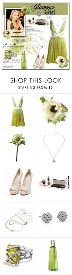 """glamour girl"" by sasane ❤ liked on Polyvore featuring Maria Lucia Hohan, Deborah Rhodes, Abigail Ahern, NOVICA, Nly Shoes, Topshop, Blue Nile, David Yurman and Thierry Mugler"