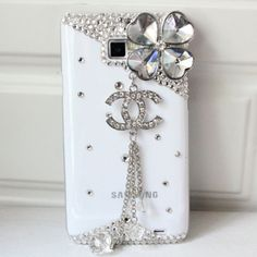 New Bling Four Leaf Clover White Samsung Galaxy S1 i9100 Case