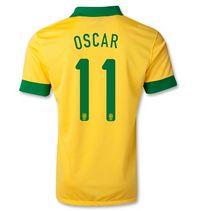 e05632c64 2013 Brazil Soccer Team  11 OSCAR YELLOW Home Replica Jersey  888820036   Football Kits