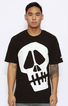 Stussy, Big Skull T-Shirt - Black Cute Tshirts, Cool T Shirts, Team Shirts, Stussy, Personalized T Shirts, Casual Elegance, Tee Design, Custom T, Cool Style