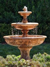 Spaces Garden Fountain Design, Pictures, Remodel, Decor and Ideas - page 4 Landscaping With Fountains, Garden Water Fountains, Water Garden, Landscape Fountains, Front Yard Fountains, Fountain Garden, Backyard Patio, Backyard Landscaping, Luxury Landscaping