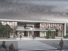 Cultural Architecture, Facade Architecture, School Architecture, Facade Design, Exterior Design, Master Thesis, Casa Patio, Building Exterior, School Design