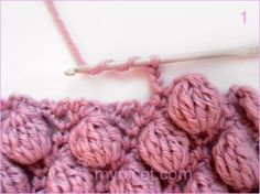 Bobble stitch tutorial with chart by MyPicot.