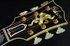 Gibson Electric Guitar Headstock Gibson Electric Guitar, Gibson Guitars, Electric Guitars, Guitar Inlay, Guitar Parts, Beautiful Guitars, Guitar Pedals, Cool Guitar, Potpourri