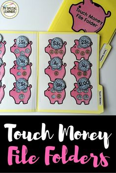 These adorable touch money file folders will be a fun, hands on addition to your money practice in your special education classroom!