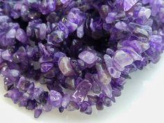 Purple Amethyst Chip Beads 34 Inch Strand 5-8mm Craft