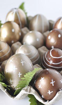 DIY Metallic Easter
