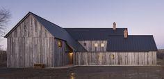 No automatic alt text available. Contemporary Barn, Modern Barn, Country Farmhouse, Modern Farmhouse, Community Housing, Bud, Wide Plank, Modular Homes, Cladding