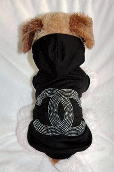 Chanel inspired Black Rhinestone Hoodie!  Gotta love Chanel...$24.99