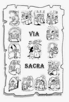 Jardim da Boa Nova: Via Sacra Kids English, Easter Crafts For Kids, Lent, Sunday School, Homeschool, Bible, Faith, Activities, Comics