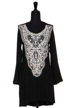 ROMANTIC LACE DRESS  12D-D61052 shopfashionomics.com