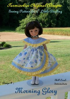 Printed+Sewing+Pattern+/+MORNING+GLORY+for++Dianna+by+Farmcookies,+$11.95