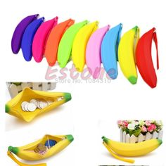 Sporting New Fashion Women Bag Novelty Silicone Portable Banana Coin Pencil Case Purse Bag Wallet Pouch Keyring Holders Bolsa Coin Purses