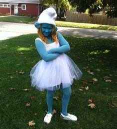 Schlumpfine Kostüm selber machen | Kostüm Idee zu Karneval, Halloween & Fasching