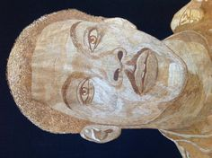 Eddie Murphy portrait handmade with rice straw (Dried leaves of rice plant )  very unique ancient leaf art. Only one made  museum collection by museumshop on Etsy
