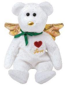 1 X Ty Beanie Baby - Gift the Bear Love (White Version) (Hallmark Gold Crown Ex. Kids Toy Store, New Kids Toys, Beanie Baby Bears, Ty Beanie Boos, Beanie Babies Worth, Ty Bears, Ty Babies, Ty Toys, Baby Queen