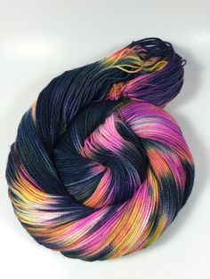 A personal favorite from my Etsy shop https://www.etsy.com/listing/467704949/sparkle-hand-dyed-yarn-super-wash-merino