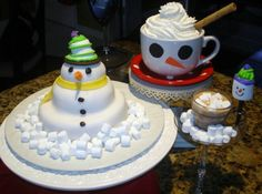 """For my daughter's """"snow man"""" themed birthday party."""