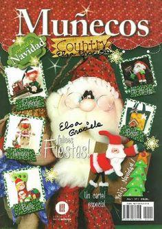 MUÑECOS COUNTRY - Alandaluz Lopez M. - Álbumes web de Picasa Book Crafts, Crafts To Do, Hobbies And Crafts, Christmas Books, Christmas Stockings, Christmas Ornaments, Sewing Magazines, Painted Books, Felt Applique
