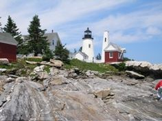I love to travel to lighthouses.  They capture my imagination and usually are situated in   b e a utiful  places.  This is Pemaquid Pt. light in Maine.