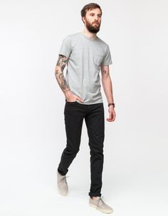 A.P.C.'s slim tapered Petit Standard with a stone washed finish and slight stretch for a super comfortable fit.