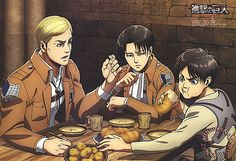 Ha! their reaction to eren eating!!
