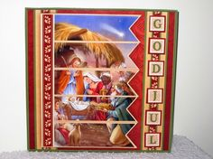 CHRISTMAS NATIVITY 7.5 Quick Card Kit Create Any Name Alphabet in 2 sizes - CUP794420_68 | Craftsuprint
