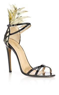 Aquazzura Gold and Black Pina Colada Sandal on Moda Operandi