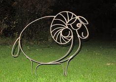 Bélier by Jacques Droulez Metal Projects, Metal Crafts, Ceramic Pottery, Ceramic Art, Metal Worx, Copper Wire Art, Metal Bender, Metal Art Sculpture, Metal Garden Art