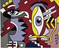 Roy Lichtenstein, Two figures, Indian, 1979 (est. $3-5 million, realized $3.9 million), via Phillipsdepury.com