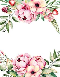 Beautiful watercolor card with place for text with flower,peonies - ilustración de arte vectorial Watercolor Card, Floral Wreath Watercolor, Watercolor Flowers, Flower Background Wallpaper, Flower Backgrounds, Wallpaper Backgrounds, Molduras Vintage, Pop Art Images, Arte Floral