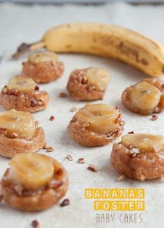 Bananas Foster Baby Cakes | 19 Tiny Desserts You Can Eat In One Bite
