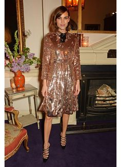 With Alexa Chung in sequined Gucci, Diane Kruger in metallic Marc Jacobs and Caroline Sieber shining in Chanel Cruise Collection 2016, we take a look back at the week's best-dressed celebrities spotted out-and-about across the globe.