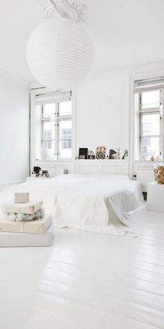 white home - bedroom