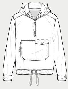 Resultado de imagen de croqui jacket men Fashion Templates, Fashion Sketch Template, Fashion Design Template, Technical Illustration, Technical Drawing, Flat Sketches, Fashion Flats, Fashion Art, Drawing Clothes