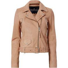 Aida Soft Biker Jacket ($955) ❤ liked on Polyvore featuring outerwear, jackets, metallic, streetwear jackets, beige leather jackets, metallic jacket, genuine leather jackets and rider leather jacket