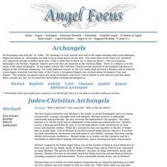Archangel List of Names - Sandalphon, Jeremiel, Raphael, Chamuel ...