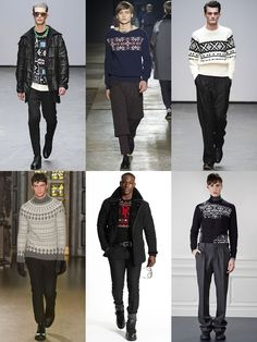 Men's Fair Isle Print Knitwear On The AW15 Menswear Runways