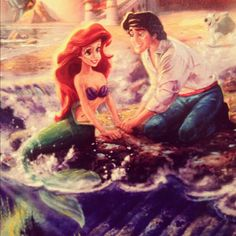 Disney Little Mermaid Ariel and Eric Disney Princess Ariel, Mermaid Disney, Princesa Disney, Disney Little Mermaids, Ariel The Little Mermaid, Ariel Mermaid, Mermaid Art, Disney Couples, Disney Girls
