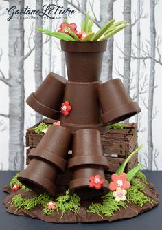 Bonhomme Pots de Fleurs Chocolat