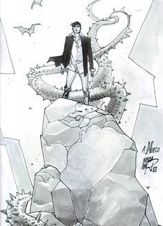 DYLAN DOG - NICOLA MARI - ILLUSTRAZIONE ORIGINALE PER COVER 3D MAGAZINE N. 1 DDFC Comic Art