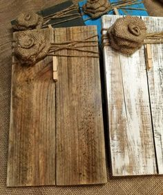 Rustic Wooden Picture Frame / Note Holder / Wooden Frame / rustic decor / farmhouse decor / pallet wood frame / clip board - Easy Crafts for All Wooden Pallet Projects, Wooden Pallet Furniture, Wooden Crafts, Wooden Pallets, Wooden Diy, Pallet Wood, Pallet Benches, Pallet Tables, Pallet Bar