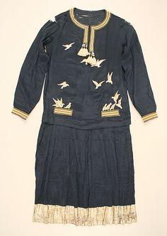 Ensemble, Paul Poiret (French, Paris 1879–1944 Paris), silk, felt, metallic thread, French