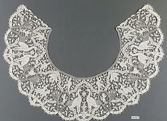 Collar, 19th c., Italian, 4.5x15.5, needle lace