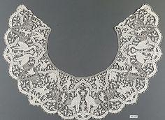 Collar, 19th c., Italian, 4.5x15.5, needle lace
