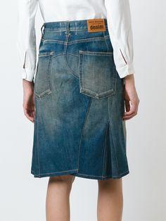 Junya Watanabe Comme Des Garçons джинсовая юбка средней длины