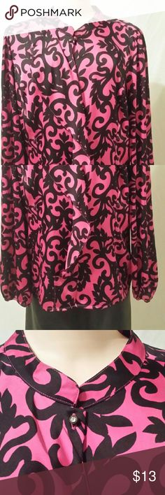 **BUY 3 GET 1 FREE**Black and Pink Blouse **JANUARY SALE SEE AD FOR DETAILS**Black and Pink Blouse Worthington Tops Blouses